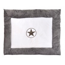 Boxkleed Jollein Circle Star Fleece Grey
