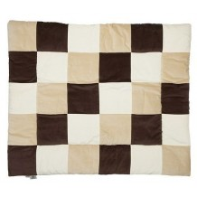 Boxkleed Textiel Colorful Checkers Naturel